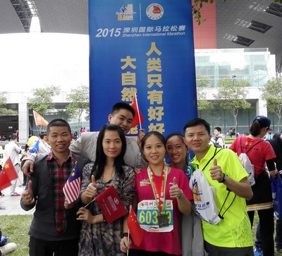 Some Best Tech Team members at 2015 Shenzhen Marathon