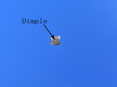 metal dome with dimple