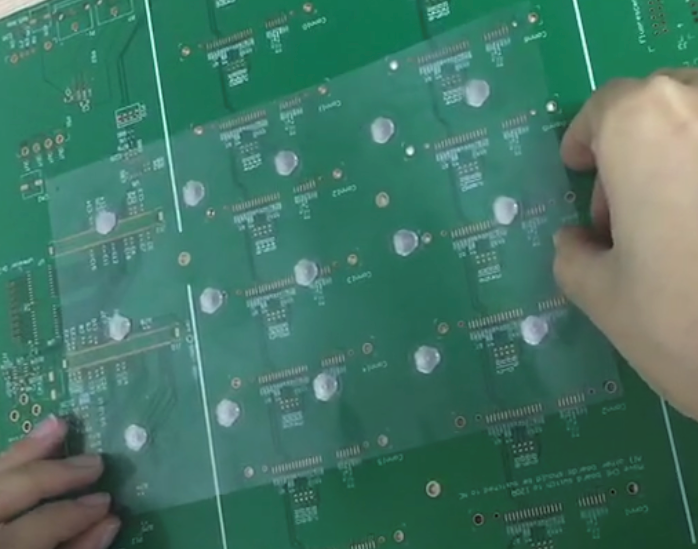 putting dome array on PCB