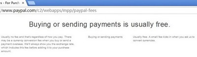 sending payment is usually free