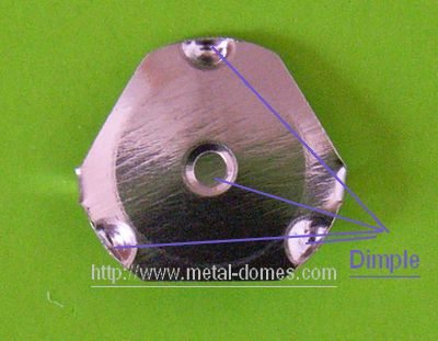 Dimple of metal dome